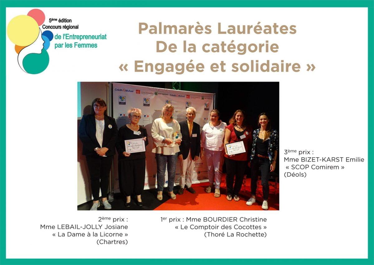 """Palmarès Lauréates de la catégorie """"Engagée et solidaire"""""""